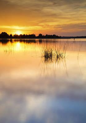 Landscape Photograph - Lake Sunset Xiii by Ricky Barnard