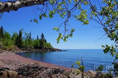 Photograph - Lake Superior Framed by Sandra Updyke