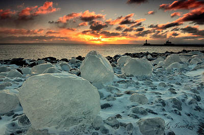 Photograph - Lake Superior Ice Depository by Gregory Israelson