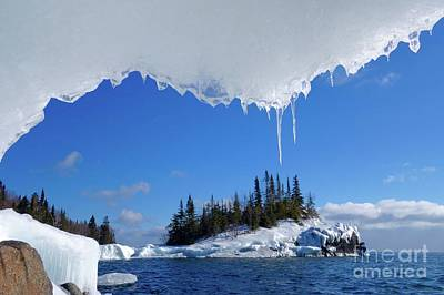 Photograph - Lake Superior Ice Frame by Sandra Updyke