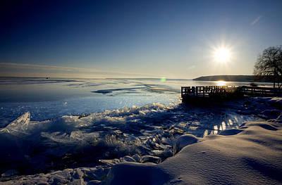Winter-landscape Digital Art - Lake Superior In Winter by Mark Duffy