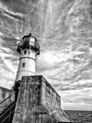 Photograph - Lake Superior Light House by David Ralph Johnson