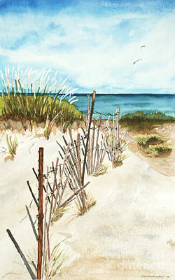 Print featuring the painting Lake Superior Munising by Sandra Strohschein