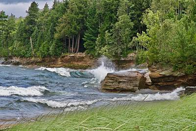 Photograph - Lake Superior Shoreline 7485 by Michael Peychich