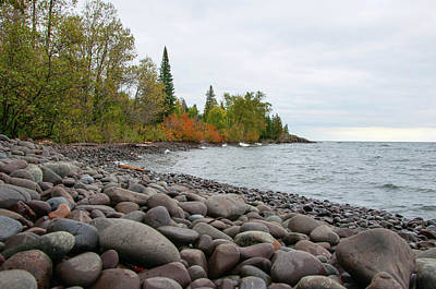 Photograph - Lake Superior Shoreline by Steve Stuller