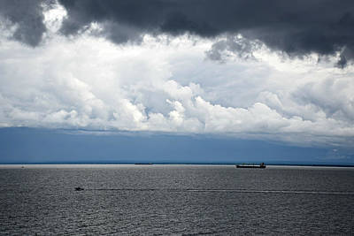 Photograph - Lake Superior Storm by Kathy M Krause