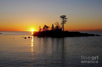 Photograph - Lake Superior Sunrise  by Sandra Updyke