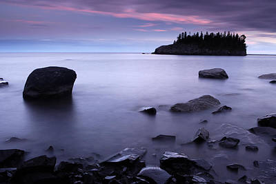 Photograph - Lake Superior Twilight by Eric Foltz