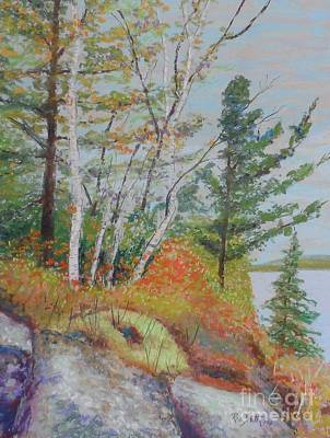 Pastel - Lake Susie In Fall by Rae  Smith  PAC