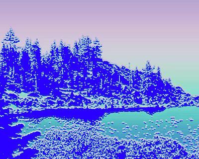 Digital Art - Lake Tahoe No. 17-2 by Sandy Taylor