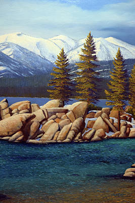 Painting - Lake Tahoe 3 by Frank Wilson