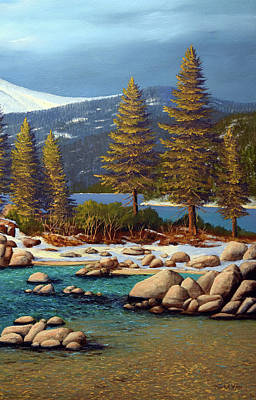 Painting - Lake Tahoe 4 by Frank Wilson