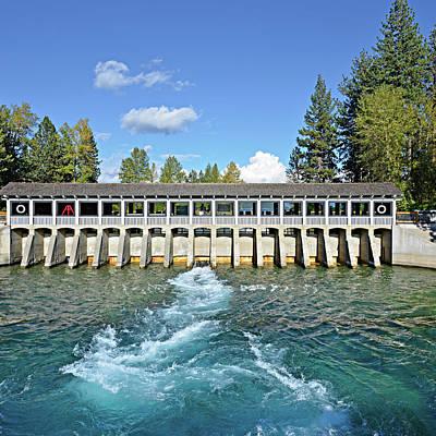 Art Print featuring the photograph Lake Tahoe Dam by David Lawson