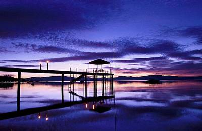 Photograph - Lake Tahoe Dawn...table For Two by Sean Sarsfield