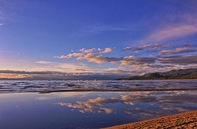 Photograph - Lake Tahoe Evening by Geoffrey Lewis