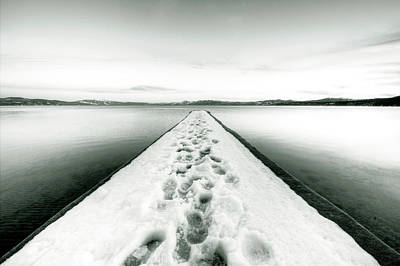 Lake Tahoe Footprints In The Snow  Original