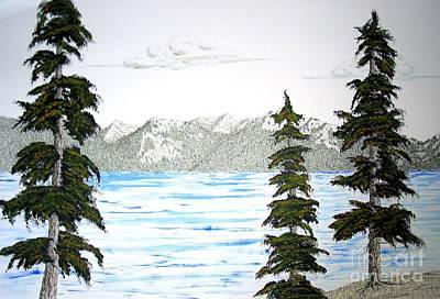 Lake Tahoe In Summer Art Print by Ed Moore