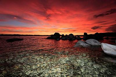 Photograph - Lake Tahoe Liquid Dreams by Sean Sarsfield