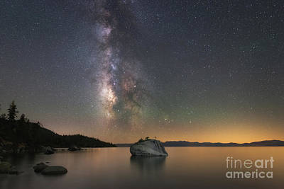 Photograph - Lake Tahoe Milky Way  by Michael Ver Sprill