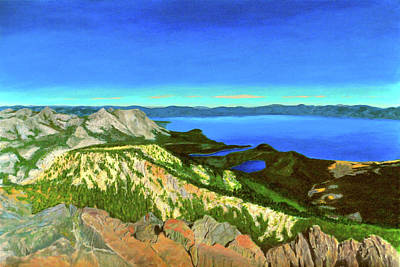 Painting - Lake Tahoe Panorama by William Frew