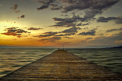 Photograph - Lake Tahoe Pier by Maria Coulson