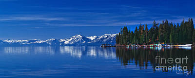 Lake Tahoe Reflections Art Print by Vance Fox