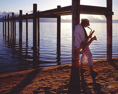 Lake Tahoe Sax Art Print by Vance Fox