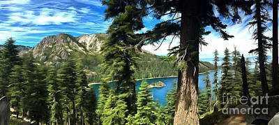 Emerald Bay Photograph - Lake Tahoe Serenity by Krissy Katsimbras
