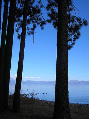 Illusory Photograph - Lake Tahoe Silhouettes  by Connie Handscomb