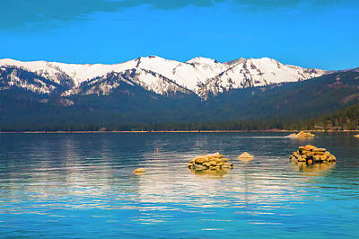 Photograph - Lake Tahoe Spring by Nancy Marie Ricketts