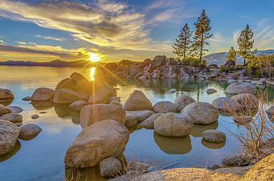 Lake Tahoe Spring Starburst Art Print