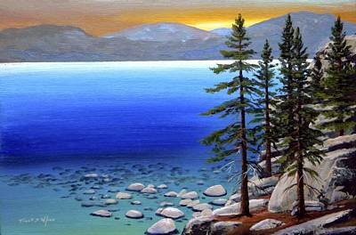Lake Tahoe Sunrise Original by Frank Wilson