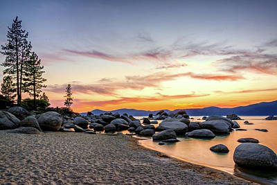 Photograph - Lake Tahoe Sunset by Maria Coulson
