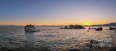 Photograph - Lake Tahoe Sunset Panorama by Michael Ver Sprill