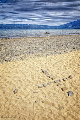 Lake Tahoe Photograph - Lake Tahoe Water Cross by LeeAnn McLaneGoetz McLaneGoetzStudioLLCcom