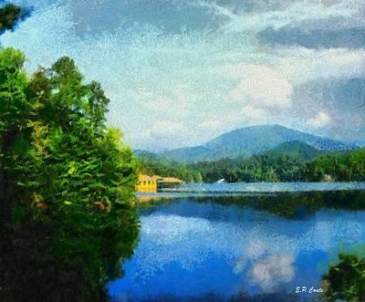 Lake Tahoma In Marion Nc Art Print by Elizabeth Coats
