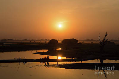 Photograph - Lake Taungthaman by Delphimages Photo Creations
