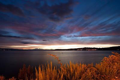 Lake Taupo Sunset Print by Marc Garrido