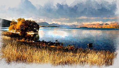Digital Art - Lake Tekapo by Kai Saarto
