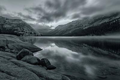 Photograph - Lake Tenaya At Early Dawn Bw 2 by Jonathan Nguyen