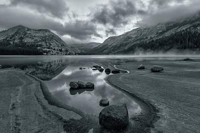 Photograph - Lake Tenaya At Early Dawn Bw by Jonathan Nguyen