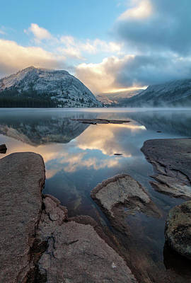 Photograph - Lake Tenaya  At Sunrise - Vertical by Jonathan Nguyen