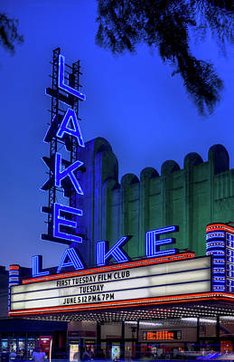 Royalty-Free and Rights-Managed Images - Lake Theater Oak Park IL by Steve Gadomski