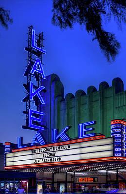 Lake Theater Oak Park Il Art Print