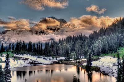 Lake Tipsoo, Mt Rainier Art Print