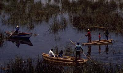 Travel Pics Rights Managed Images - Lake Titicaca Reed Boats Royalty-Free Image by Travel Pics