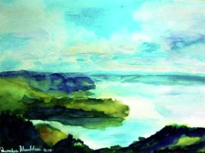 Painting - Lake Toba Sumatra Island In Indonisia by Wanvisa Klawklean