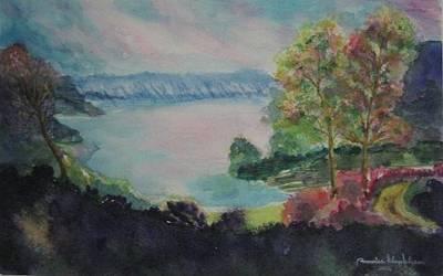 Painting - Lake Toba Sumatra Island Indonisia by Wanvisa Klawklean