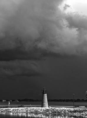 Photograph - Lake Toho Storm In Black And White  by Chris Mercer