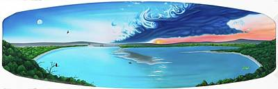 Wakeboard Painting - Lake Travis by Patrick Houston